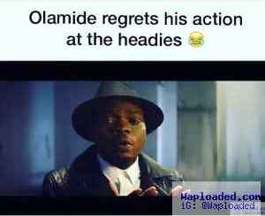 Funny Video: Olamide Cries and Apologizes for His Actions #TheHeadiesAward2015